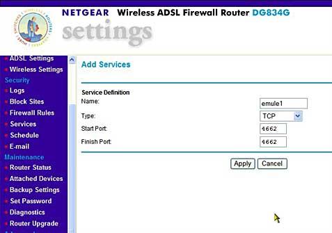 eMule Italia - eMule Configurazioni router - Netgear